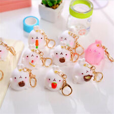 1xCute Rabbit Character Molang Keyring Charm Pendant Keychain Bag Key Ring Chain