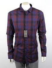 Armani Exchange AX Men's Button Up Plaid Check Shirt Top - H6C036SL Size XXL
