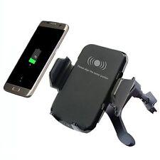 Qi Wireless Ladegerät Dock Auto KFZ Vent Mount Halter Holder Für iPhone Samsung