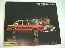 Old Sales Brochure For The Ford Fairmont - 1978.