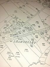 Old Antique Ordnance Map 1923 Staffordshire LII.14 Lichfield Leomansely & Wall .