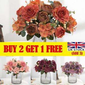 Vintage Artificial Fake Peony Silk Flowers Retro Bouquet Wedding Home Decor lt