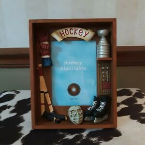 Russ Sports Hockey 3D 4x6 Picture Frame
