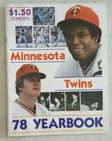 1978 MINNESOTA TWINS YEARBOOK MAGAZINE CAREW WYNEGAR VERY NICE