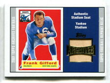 2001 TOPPS ARCHIVES FRANK GIFFORD YANKEE STADIUM SEAT RELIC CHOICE WHITE OR RED
