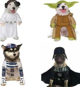 XS SM-STAR WAR Pet Dog Halloween Costume DARTH VADAR-LEIA-R2D2-YODA 50-75%OFF