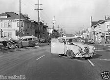 1951 Studebaker land Cruiser Collides with Ambulance 8 x 10 Photograph