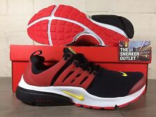 New Men's Nike Air Presto Essential UK Size 10 Trainers Black Red // 90 95 TN