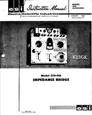ESI Model 250-DA Impedance Bridge Instruction Manual * PDF * CDROM