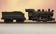 Mantua HO 0-4-0 Loco and tender - Norfolk and Western / N&W 200