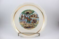 Vintage New Mexico Souvenir State Plate With Gold Trim