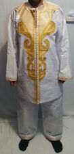 New Men Clothing African Brocade Dashiki Pant Set With 2 Side Pocket Free Size