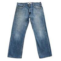 Vintage Levi 'S 569 Bleu en Vrac Jeans Coupe Droite Taille W36