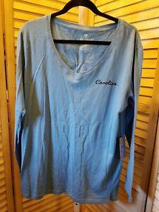 North Carolina Tar Heels Colosseum Womens Long Sleeve V-Neck T-Shirt Size L H933