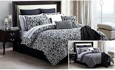 VCNY Brighton Reversible 16 PC Comforter Bedding Set with Matching Throw King
