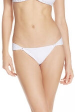 NWT $106 ViX Matelasse Side-Loop Bikini BRAZILIAN Bottom WHITE swinwear sz M