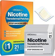 Aroamas Nicotine Transdermal Patches Quit Smoking - 21mg, 21 count Exp 6/22