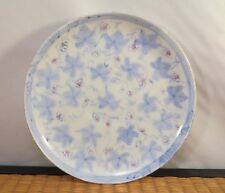 Antique Japanese Yokohama Export Kutani Porcelain Dish Blue Gourd Leaves Japan B