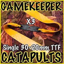 X3 TTF GAMEKEEPER CATAPULTS SINGLE 30-20mm THERABAND GOLD SLINGSHOT ELASTIC,