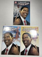 Amazing Spider-Man 583 2nd, 3rd & 5th Print VF- Barack Obama. All Sealed
