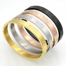 Women Zircon Bracelet Cross Nut Nail Bracelets Elegant Bangles Stainless Steel