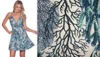 $94 Maaji Coral Reef Beach Dress Medium 6 8 Blue Viscose Cool Swingy Breezy NWT