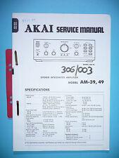 Service-Manual-Anleitung für Akai  AM-39/AM-49,ORIGINAL
