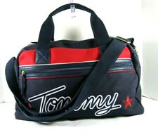 Tommy Hilfiger $128 Weekender Duffel Bag Large Navy Red Zip Top Embroidered X