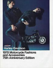 "AMF HARLEY DAVIDSON ""NOS"" 1978 FASHION & ACCESSORIES CATALOG  #99457-78V"
