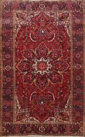 8x11 Vintage Traditional Geometric Heriz Handmade Area Rug Oriental Wool Carpet