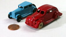 Unbranded~Die Cast Metal~Packard/Buick/Plymouth/Chrysler(?)~Red & Blue Cars