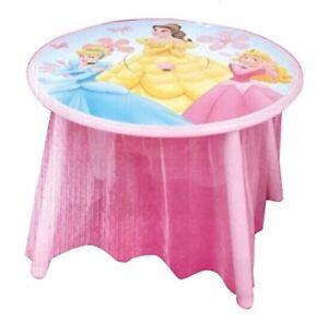 Tavolo Disney legno Principesse Disney - Misure: 60cm x 60cm - altezza 43,5cm