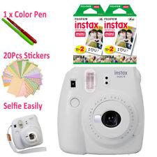 Fujifilm Instax Mini 9 Camera White + 40 Sheets Fuji Polaroid Film + Free Gift
