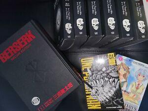 Manga lot english Beserk 1 & 2  One Punchman Deathnote Complete