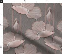 Art Deco Poppies Blush Large Scale Floral Spoonflower Fabric by the Yard