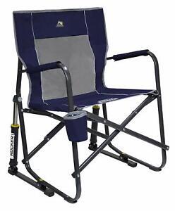 GCI Outdoor Freestyle Rocker Portable Folding Rocking Chair Indigo Blue