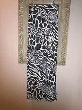 New CHARLOTTE RUSSE Black & White SLINKY  Maxi Skirt~BIG SLIT~Junior's  X Small