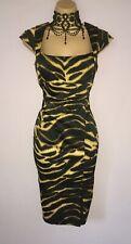 FLATTERING KAREN MILLEN DRESS UK 10 TIGER PRINT PENCIL MATCHING SHOES AVAILABLE
