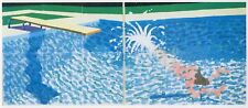 Large Diver, Paper Pool #27, David Hockney print in 11 x 14 mount ready to frame