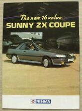 NISSAN SUNNY ZX COUPE Car Sales Brochure 1987-88 #S24.JW.J979.50m.7.87