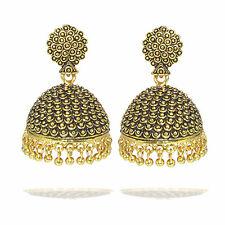 Rabbi Gold Plated Ethnic & Cultural Gemini  Jhumka Earring