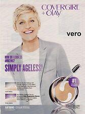 ELLEN DEGENERES 2015 magazine ad COVERGIRL OLAY clipping print simply ageless