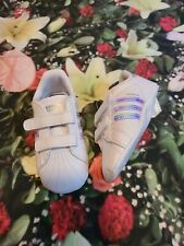 Nwt Adidas crib baby shoes size 5 white