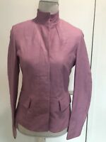 $598 NWT LIGHT MAUVE WOMANS LEATHER JACKET SZ S MADE IN ITALY