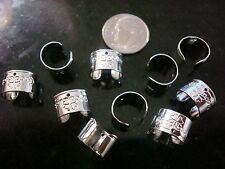 10 Sterling silver plated 11x10mm cuff earrings dangle findings 5 pair fpe099