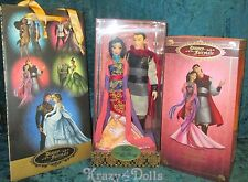 Disney Designer Fairytale Collection Doll Couple Princess Mulan and Shang  New!