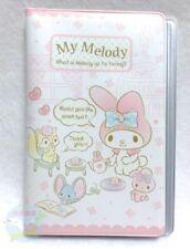 New!! SANRIO My Melody KAWAII Card Holder vinyl Transparent Pocket 16 Storage