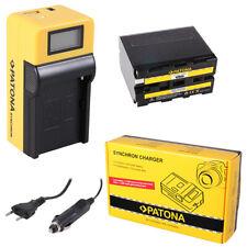 Batteria Patona + caricabatteria Synchron LCD USB per Sony HDV FX1,HDV Z1