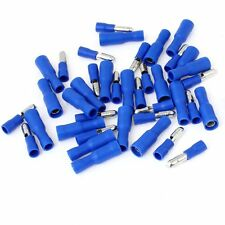 Hot 100pcs Blue Male Female Bullet Connector Crimp Terminals Wiring