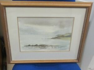 Original Watercolour of Loch Lomond Scotland by L.A.Bryant